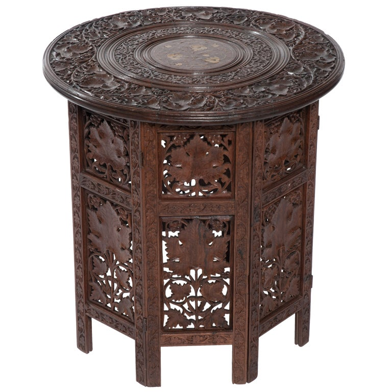 Anglo indian rosewood teapoy or side table at 1stdibs for Teapoy table designs