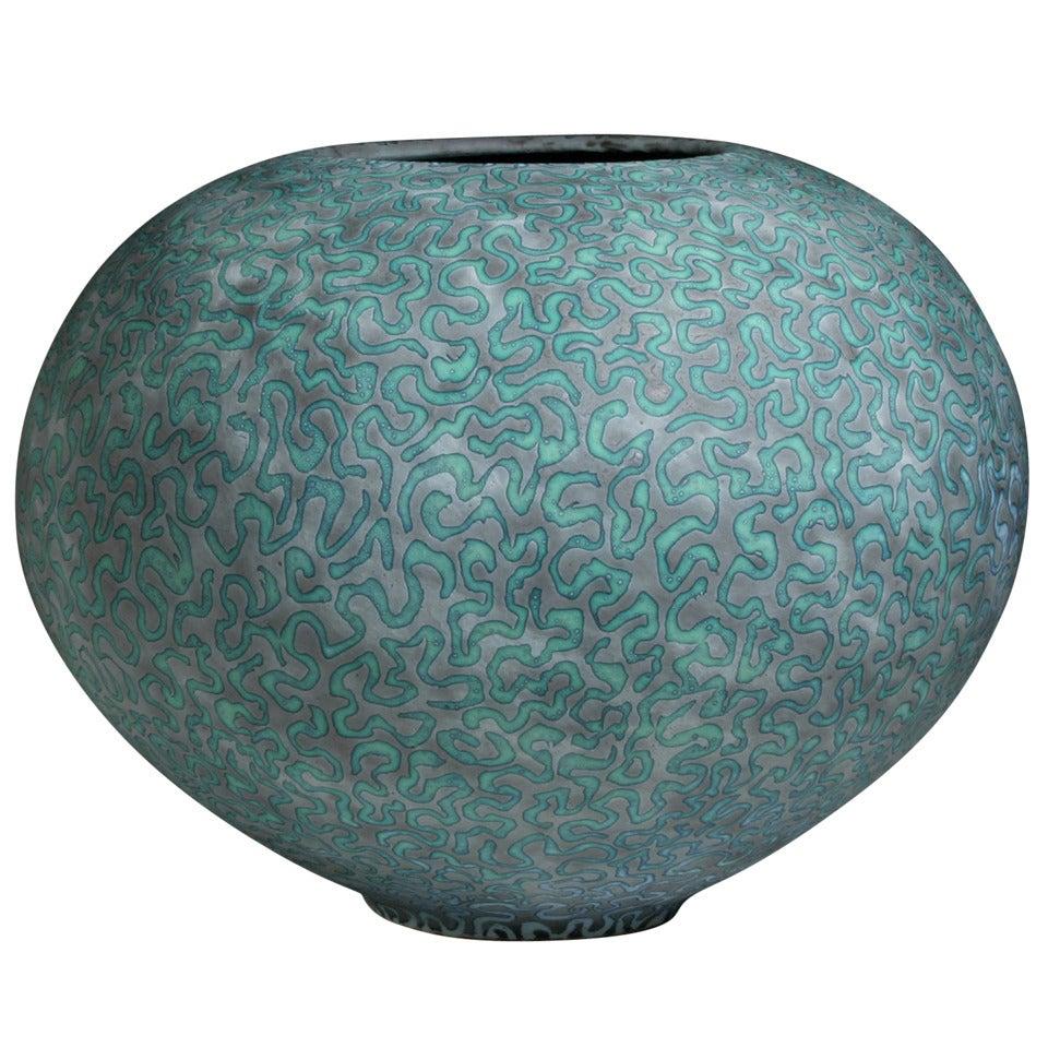 Unique Ceramic Vase by Peter Beard