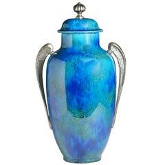 Sèvres Blue Art Deco Vase and Cover