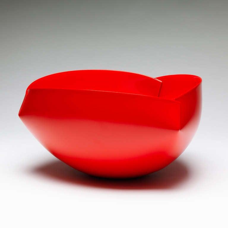 Belgian Modern Red Vessel by Ann Van Hoey For Sale