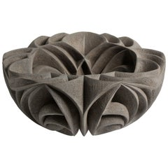 """Fleur Noir"" Ceramic Centerpiece by Halima Cassell"