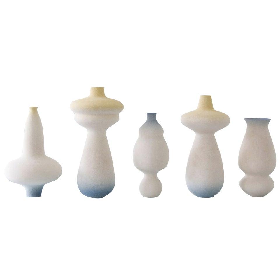 Group of Contemporary Ceramic Vases by Turi Heisselberg