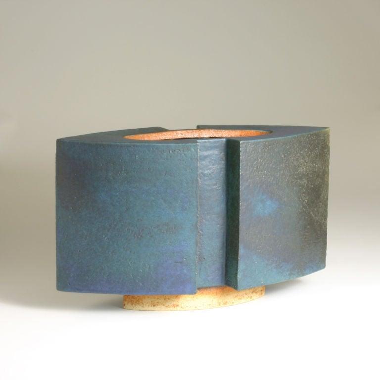 """Studio Hohmann vessel. Impressed artist's signature, numbered """"3/92""""."""