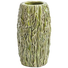 Green Pottery Vase by Lone Skov Madsen