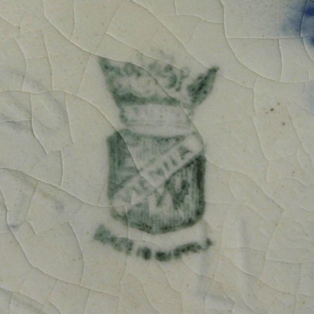 Made by Ernst Wahliss, Vienna. Printed maker's mark to underside. Impressed model number