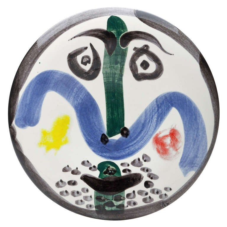 Picasso Quot Face Quot Plate 1963 At 1stdibs