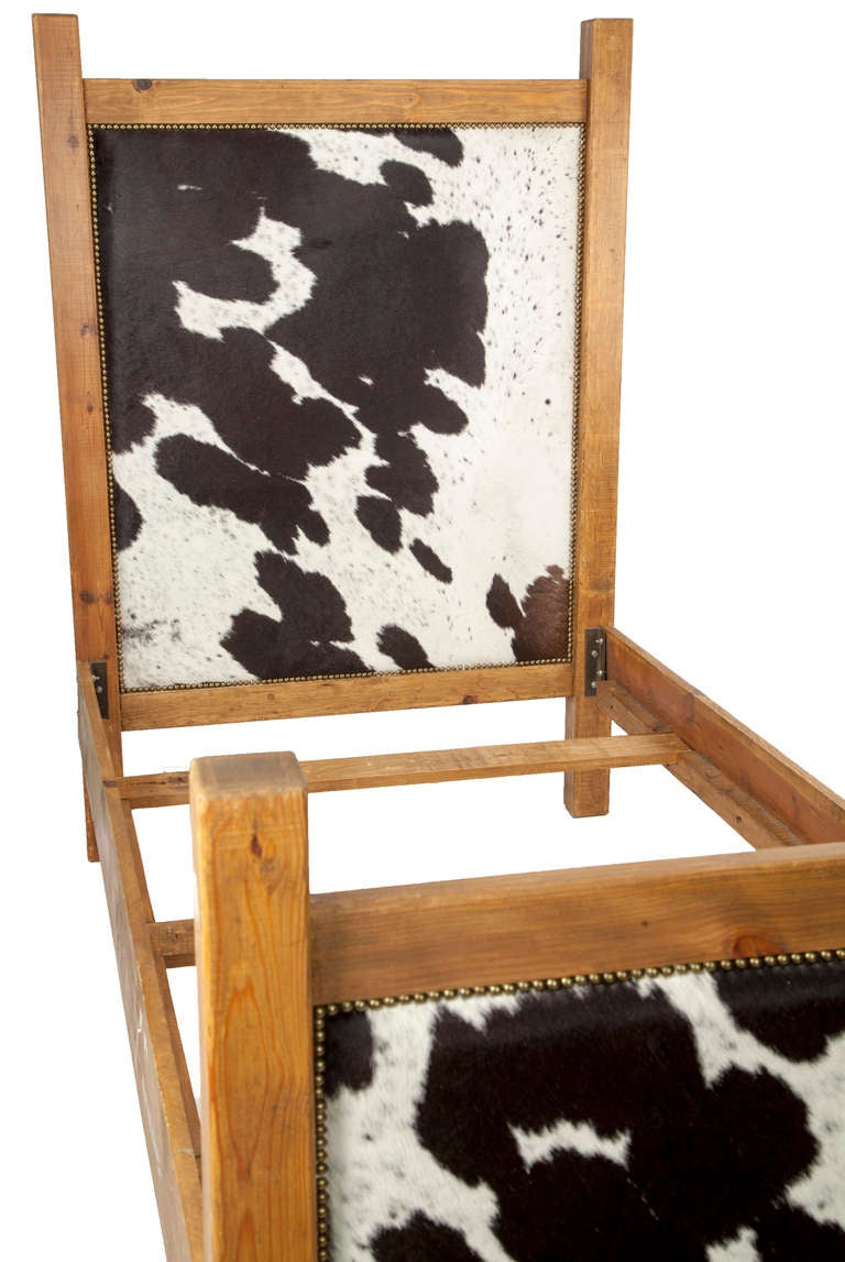 Black And White Cowhide Twin Bed Frame For Sale At 1stdibs