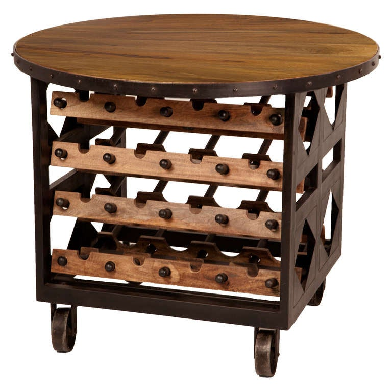 Hand-Forged Wine Table For Sale