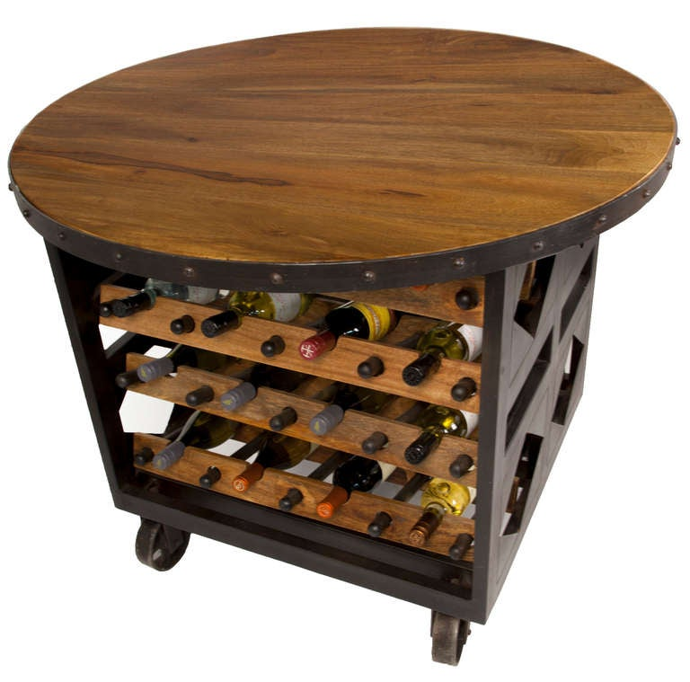 20th Century Hand-Forged Wine Table For Sale