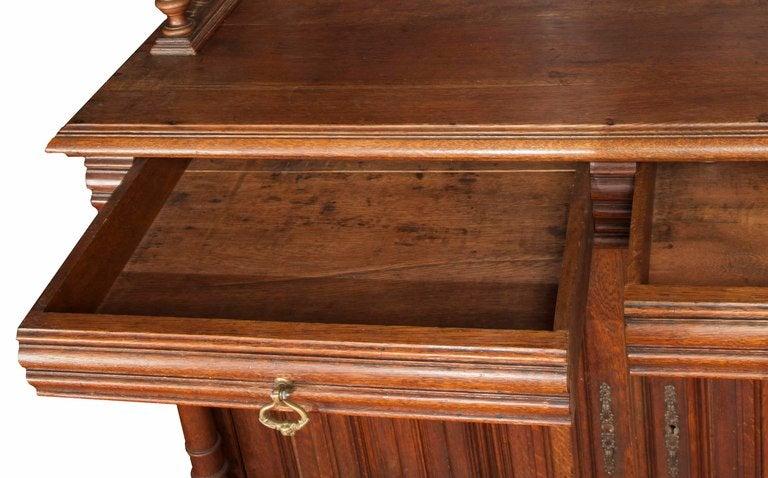 hand carved english walnut sideboard for sale at 1stdibs. Black Bedroom Furniture Sets. Home Design Ideas