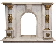 Classic Roman Marble Fireplace
