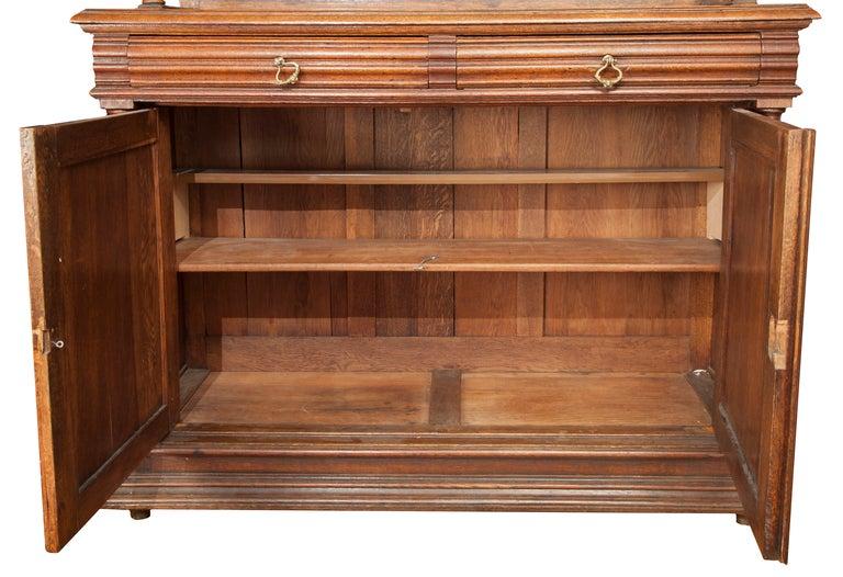 hand carved english walnut sideboard at 1stdibs. Black Bedroom Furniture Sets. Home Design Ideas