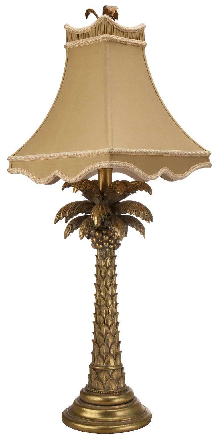 Gold Palm Tree Table Lamp At 1stdibs