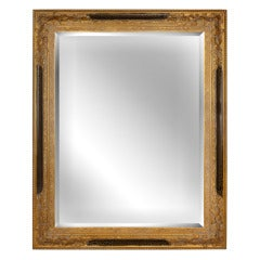 Large Gold Beveled Mirror