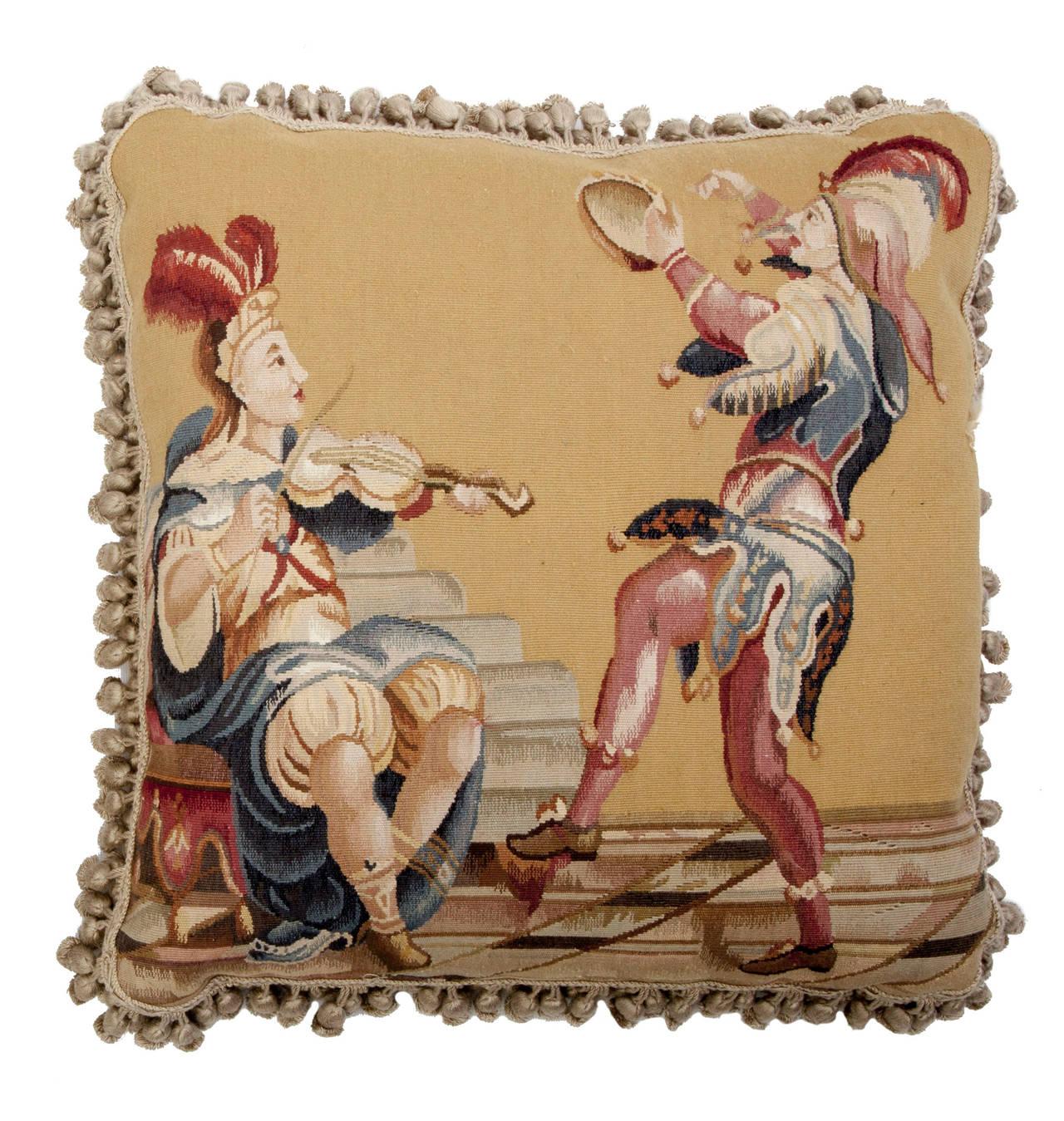 Renaissance Aubusson Tapestry Pillows For Sale