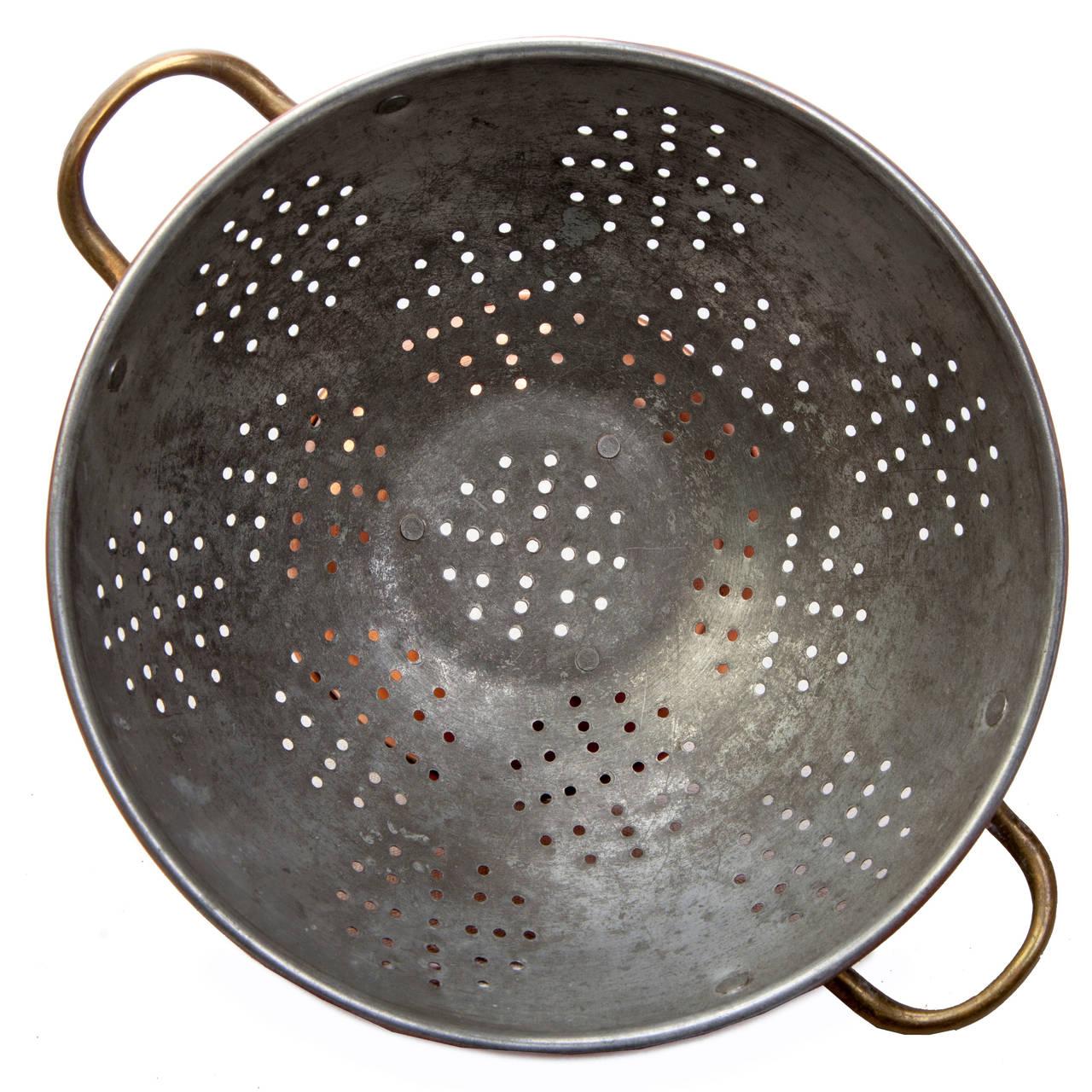 Waldow Brooklyn NY Copper Colander Strainer Vintage Kitchen Cookware Mid Century Metals
