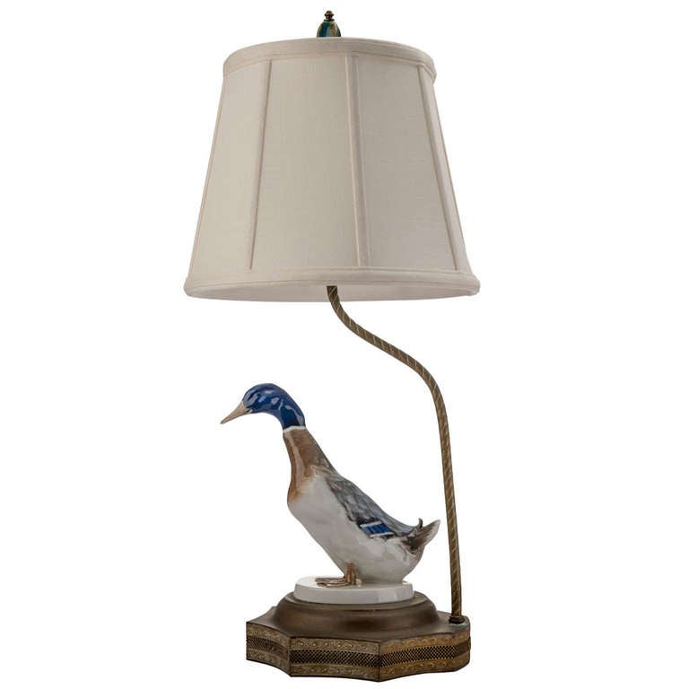 Porcelain Duck Table Lamp