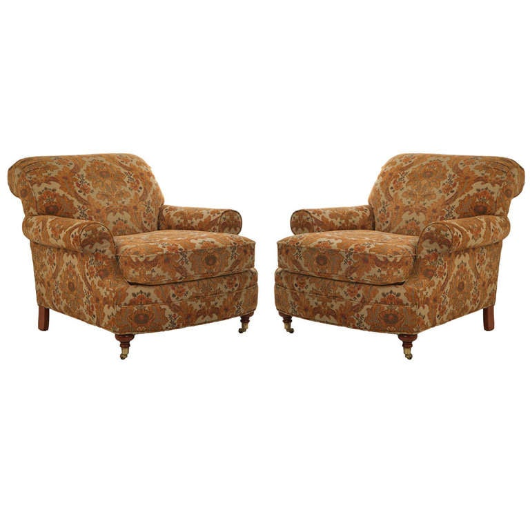 Lovely Taylor King Upholstered Club Chairs 1