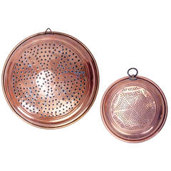 Turn of the Century Copper Strainers