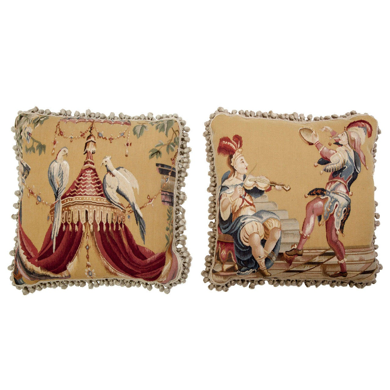 Aubusson Tapestry Pillows For Sale