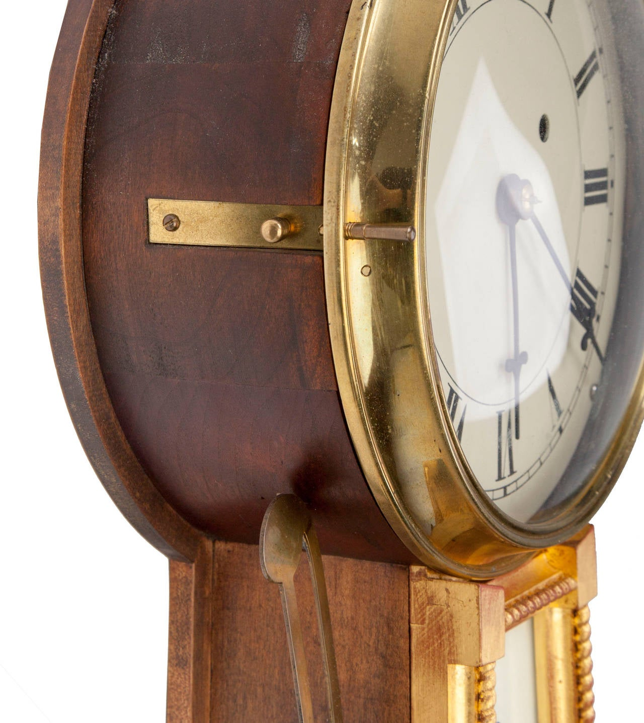 American Federal Style Banjo Clock For Sale 1