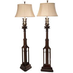 English Gothic Revival Floor Lamps