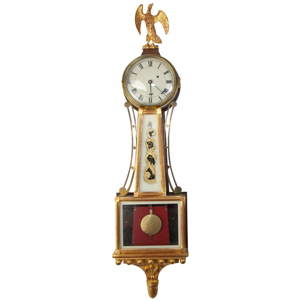 American Federal Style Banjo Clock For Sale