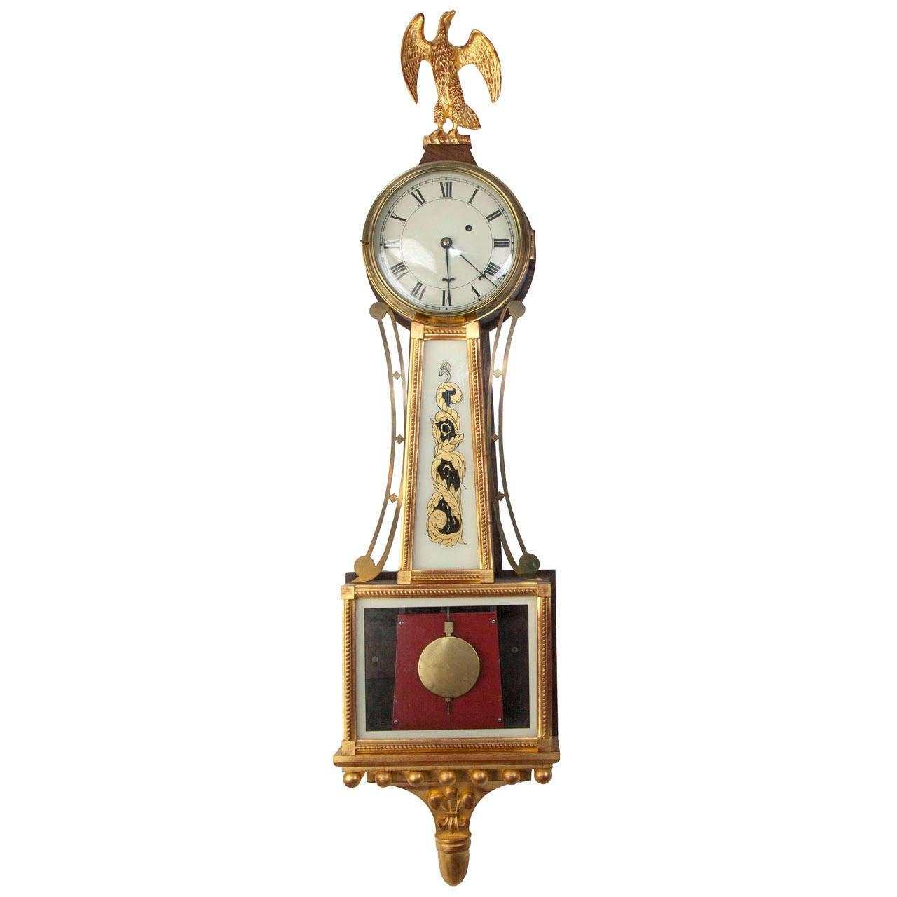 American Federal Style Banjo Clock
