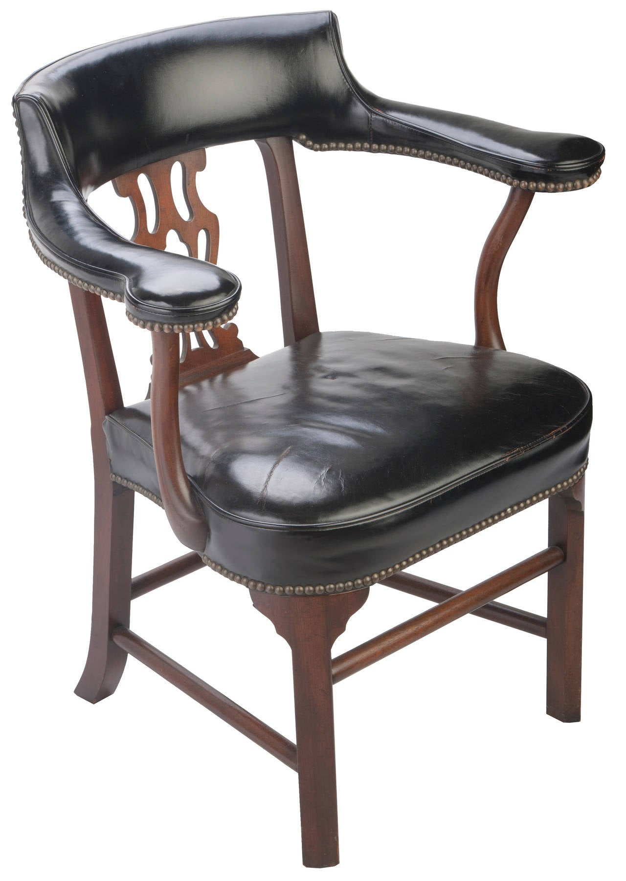 Bankers chair leather - Kittinger Leather Bankers Chairs 2