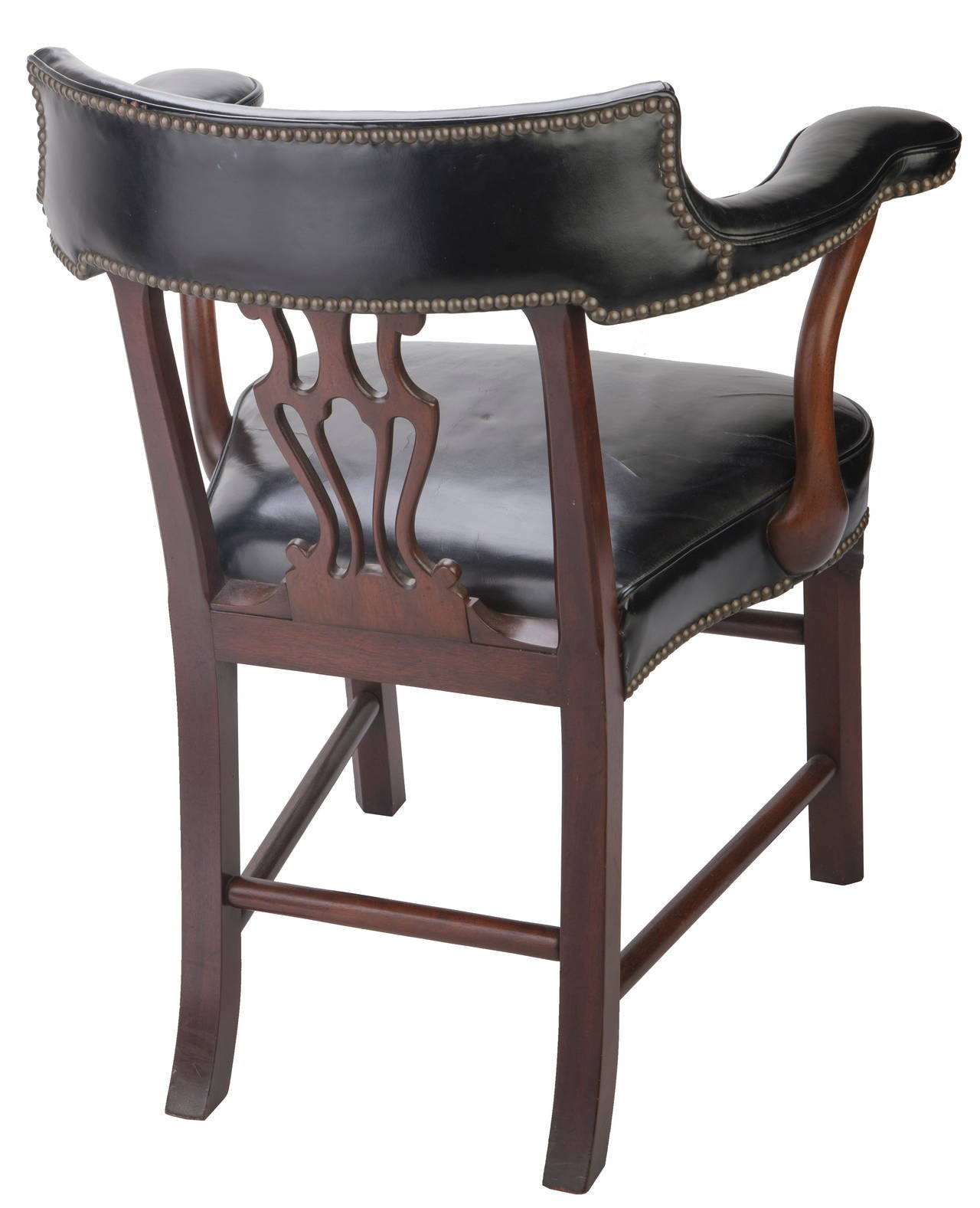 Kittinger Leather Bankers Chairs At 1stdibs