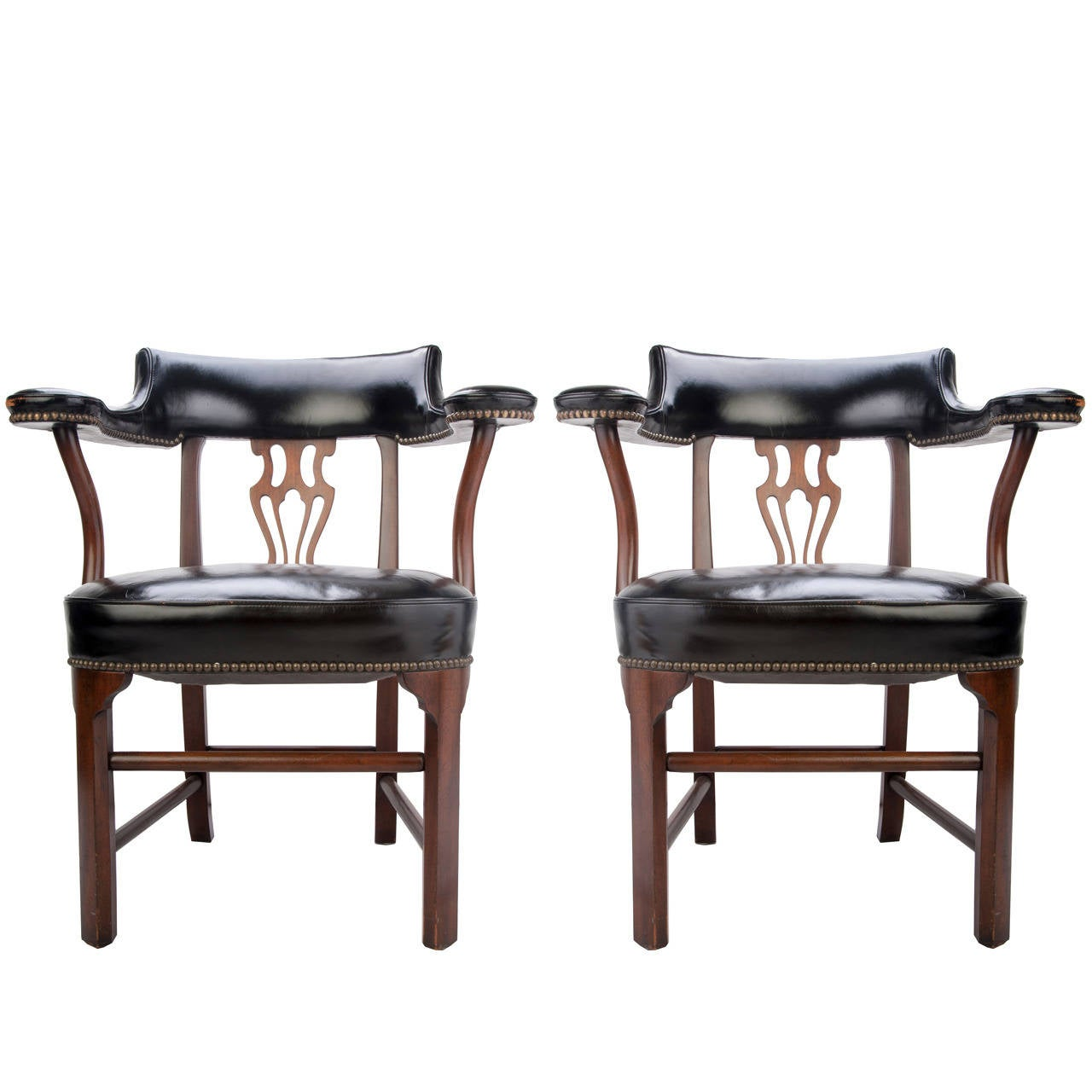 Kittinger leather bankers chairs for sale at 1stdibs