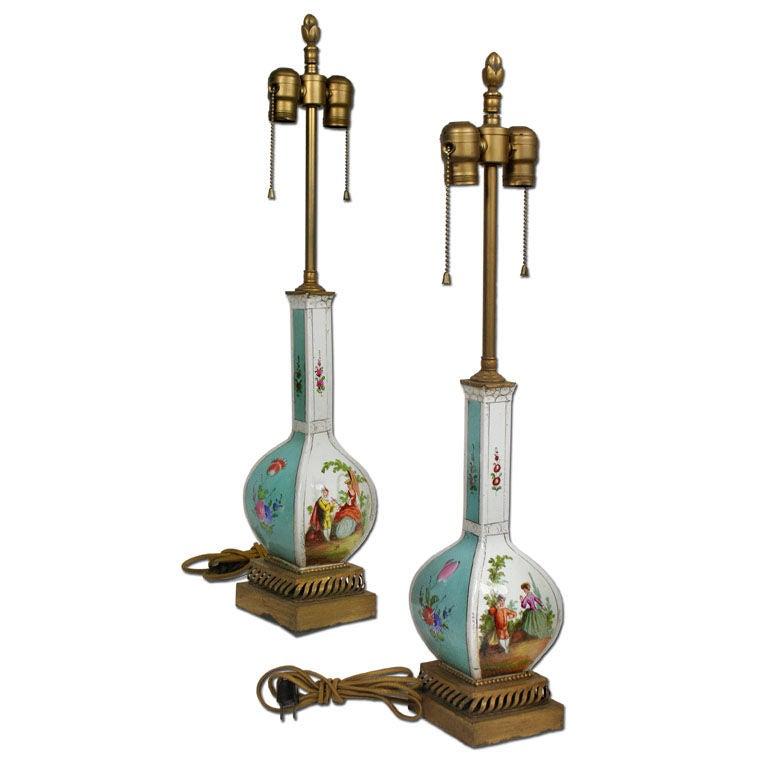 Fine Dresden Porcelain Lamps