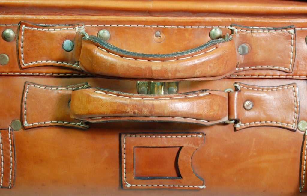 Vintage Leather Luggage Set 3