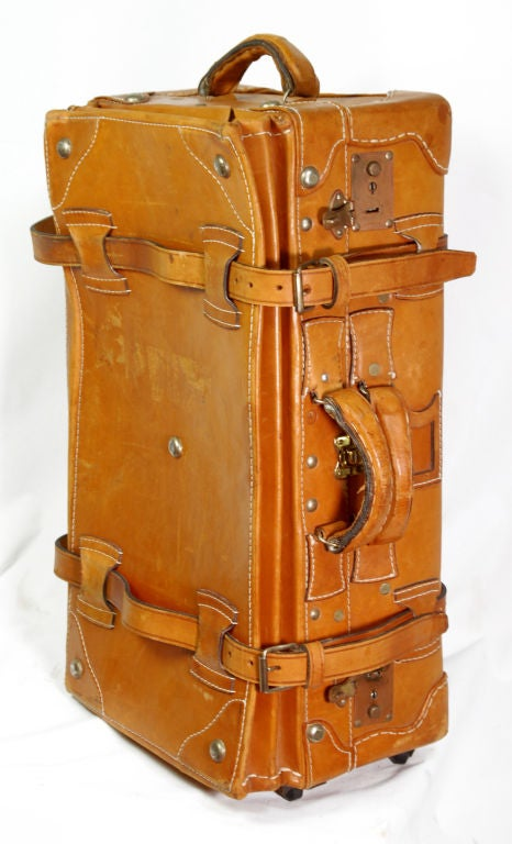 Vintage Leather Luggage Set 4