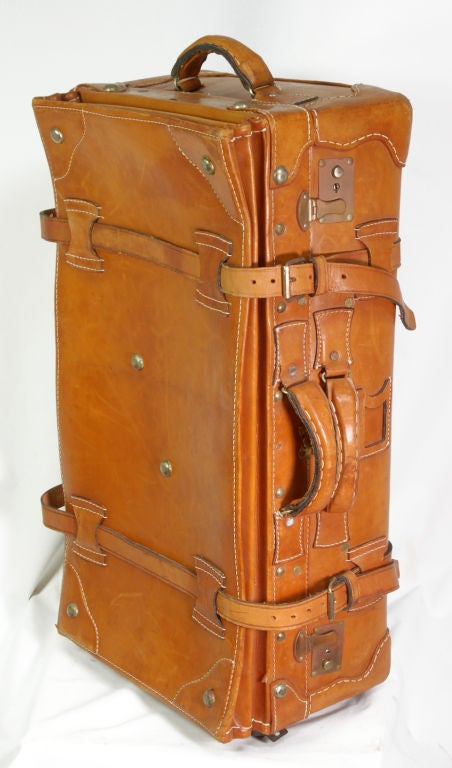 Vintage Leather Luggage Set 5