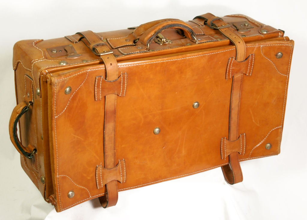 Vintage Leather Luggage Set 6