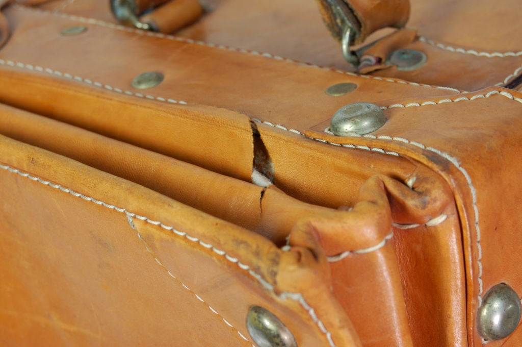 Vintage Leather Luggage Set 7