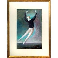 Rose Silver -Rhana Oil Painting of Ballet Dancer