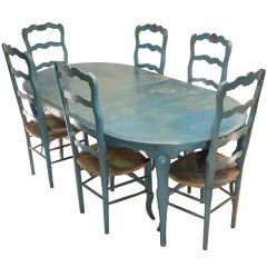 1980 Jacques Grange Table and Chairs from France