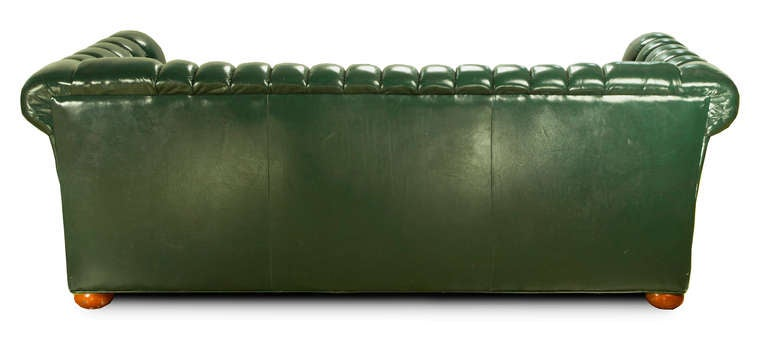 Green Leather Chesterfield Sofa 2