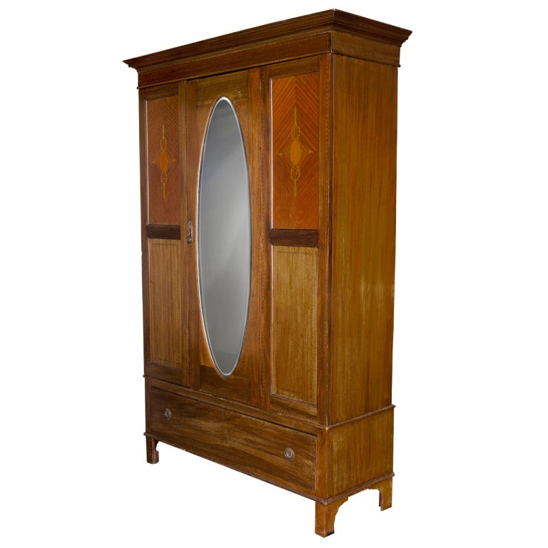 Edwardian Style Wardrobe Cabinet For Sale At 1stdibs