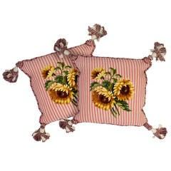 Sunflower Needlepoint Pillows