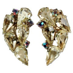 Mid-Century Weiss Rhinestone Earrings