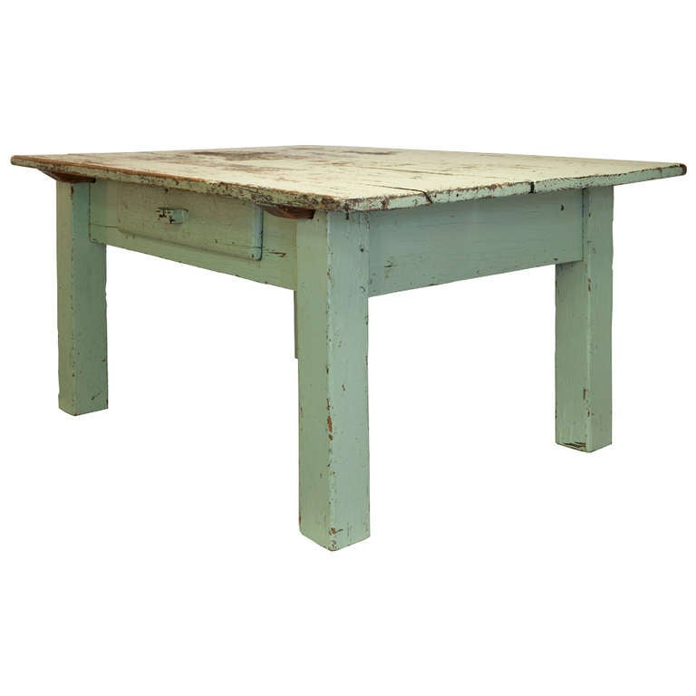 Rustic Vintage Side Table with Drawer