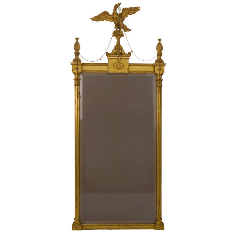 George III Style Giltwood and Gesso Pier Mirror For Sale