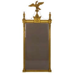 George III Style Giltwood and Gesso Pier Mirror
