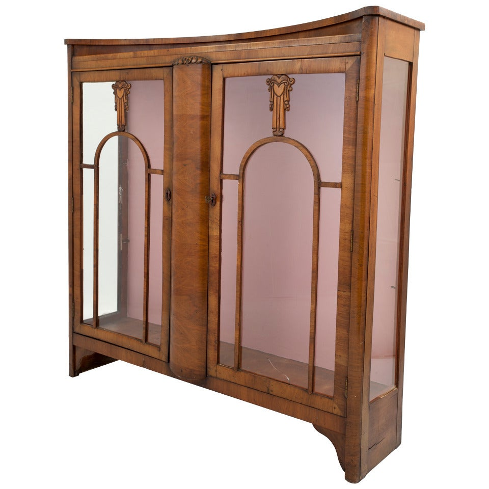 Biedermeier Style Vitrine Art Deco Cabinet