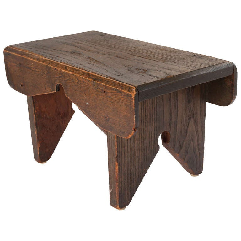 Late 19th Century Primitive Style Country Stool At 1stdibs