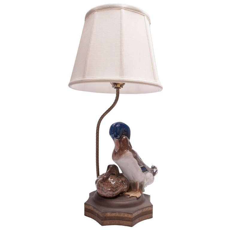 Porcelain Rosenthal Duck Figurine Mounted as Lamp