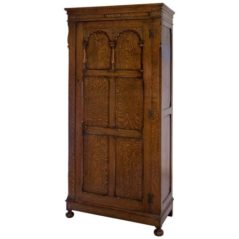 jacobean revival style oak wardrobe at 1stdibs